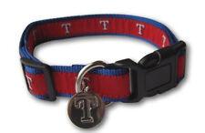 Sporty K9 MLB Texas Rangers Ribbon Dog Collar
