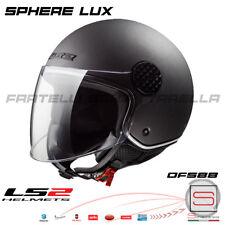 Casco Demi Jet LS2 OF558 Sphere Lux Matt Titanium Grigio + Visiera Occhiale Fumè