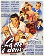 La vie a deux Fernandel Danielle Darrieux movie poster print