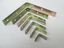 4 x Angolo Brace Strap-parentesi angolari Piastra di Riparazione-zinco passivated GIALLO