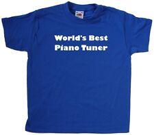 World's Best Piano Sintonizador Kids Camiseta