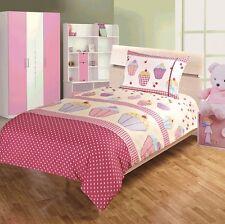 NUOVO Children's Kids Cupcake Design Set copripiumino e tende