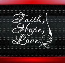 Faith Hope Love Christian Car Decal Truck Window Vinyl Sticker (20 COLORS!)