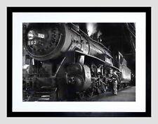 85543 1955 STEAM TRAIN WINSTON LINK ENGINE NEW MOUNT Decor WALL PRINT POSTER FR