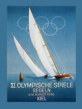 1936 Kiel Germany Sailboat Boat Olympics German Vintage Poster Repro FREE S/H