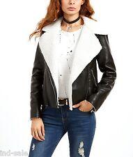 Custom Made Genuine Lambskin Leather Jacket ALL Size Moto Biker Shearling Fur