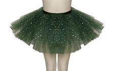 VERDE Foresta luccicante con paillettes Danza Balletto Gonna Tutu Bambino Donna Taglie Da Katz