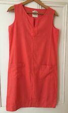 Linen Blend Dress Coral Orange New Sleeveless Summer
