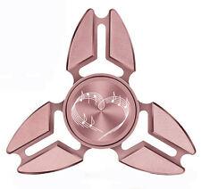 Fidget Spinner Tri-Spinner Aluminum Metal Heart Love Music Notes