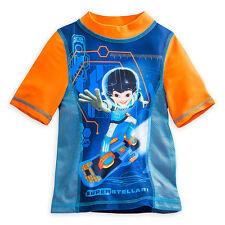 Disney Store Miles From Tomorrowland Rashguard Boys Shirt 50+ UV Protection sz 4