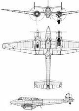 Potez 637 - Blueprint Poster