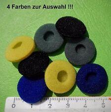 8 Schaumstoff Ohrpolster, Ohrkissen, Polster für Kopfhörer, ca.18mm, div. Farben