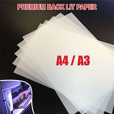 PREMIUM BACK LIT PAPER / BACK LIT FILM FOR LED LIGHT PANEL A4 / A3 TRANSLUCENT