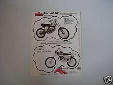 advertising Pubblicità 1978 BIMOTOR 50 CROSS/AIM 75 END