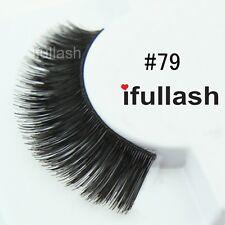 #79  6 or 12 pairs of ifullash 100% human hair Eyelashes- BLACK