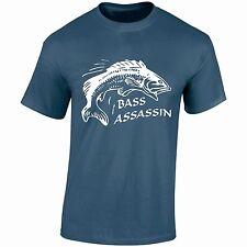 Bass Assassin W Camiseta Carpa Pike Trucha Cebo Cumpleaños Regalo Navidad fathersday