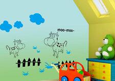 Wandtattoo Kinderzimmer wandAufkleber Kuh T004