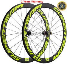 700C Disc Brake Road Bike Carbon Wheels Wheelset 50mm Thru axle 12mm QR 9mm