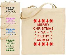 Merry Christmas Ya Filthy Animal Grand Coton Sac Shopping Fourre-tout Secret
