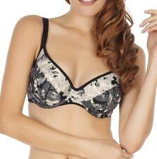 Panache SW0802 Swimwear Erica Balconnet / Balcony Bikini Top Black / Ivory
