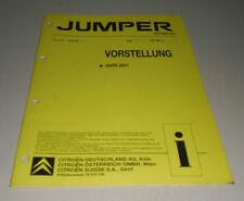 Werkstatthandbuch  Citroen Jumper Vorstellung 10/2001