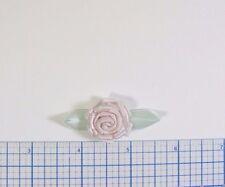 "50 Pc Satin Pink Ribbon Flower Embellishment 1 3/4"" X 1"""