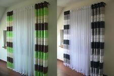 Ösenvorhang GD-V Halbtransparent 2 Vorhänge SET Decoschal Ösenschal 1 Fenster