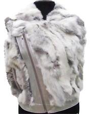 Cache Metallic Leather Fur Vest Diagonal Zipper Coat Top New XS/S/M/L $278 NWT