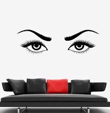 Vinyl Wall Decal Girl Beautiful Sexy Eyes Woman Eyelashes Eyebrow Sticker 1825ig
