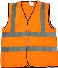 Orange Hi Visibility Reflective Safety Vest Hi Viz Class 2 Vest EN471