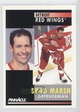 1991-92 Pinnacle #361 Brad Marsh Detroit Red Wings New Jersey Devils Hockey Card