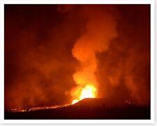 Kilauea Volcano Evening Lava Eruption Silver Halide Photo 2018