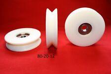 80 mm Nylon Polea Rueda con Rodamientos de bolas 90 grados V Groove CNC Carril de guía