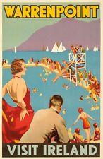 Vintage Warrenpoint Irlanda cartel turístico A3 impresión