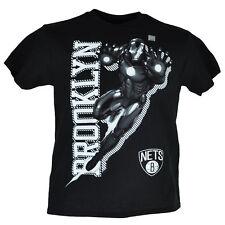 NBA Marvel Brooklyn Nets Iron Man Youth Tshirt Tee Short Sleeve Crew Neck Hero