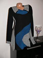 ♥ NEU Empire Patchwork  Kleid Tunika Marine Streifen schwarz  42  44 46 48 gr  ♥