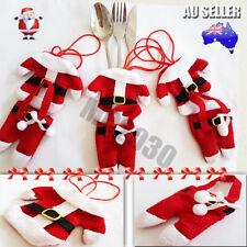 4 6 8 Pcs Santa Claus Christmas Cutlery Holder Decor Fork Utensil Table Decor