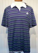 NWT Adidas AdiPure Womens Pure Cap Tennis Polo Shirt XL Purple/Green MSRP$45