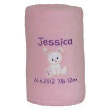 Baby Blanket Personalised - Christening/New Baby Girl/Boy/Baby Shower/Birth Gift