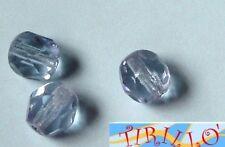 BIGIOTTERIA PERLINE- 20 mezzi cristalli 6mm - azzurro
