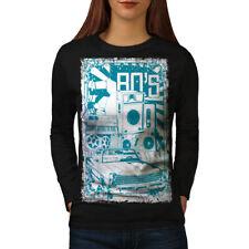 80s Music Car Vintage Women Long Sleeve T-shirt NEW | Wellcoda