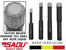 SADU TILE PORCELAIN GLASS Diamond Dry Drill Bit Vaccum Braized 6, 8, 10 & 12mm