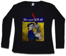 WE CAN KILL IT! WOMEN LONG SLEEVE T-SHIRT vs Evil Ash Gore Chainsaw Arm Dead