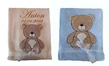 Zweilagige Babydecke SUPER WEICH auf Wunsch mit Namen bestickt Kinderdecke Decke