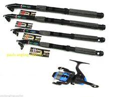 Carbon Fishing Telescopic Travel Rod  7ft , 8ft , 9ft ,10ft or 12ft & Star Reel