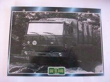 CARTE FICHE CAMION MILITAIRE DAF YA 4440 1976