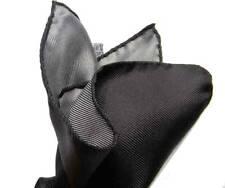 Fazzoletto da taschino uomo nero POCHETTE di SETA da Tasca NERA per GIACCA grigi