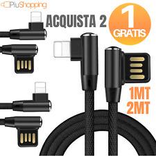 CAVO DATI USB LIGHTNING PER APPLE IPHONE 6S 7 8 X XS XR 90 GRADI RICARICA RAPIDA