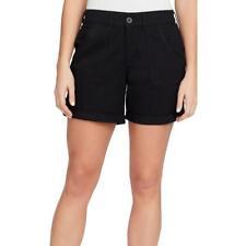 366f45cc43d Gloria Vanderbilt Women s Misha Black Cuffed Stretch Shorts Size  24W  46