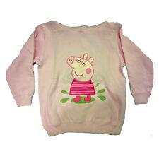 PEPPA PIG felpa rosa confetto in cotone felpato varie taglie da bambina